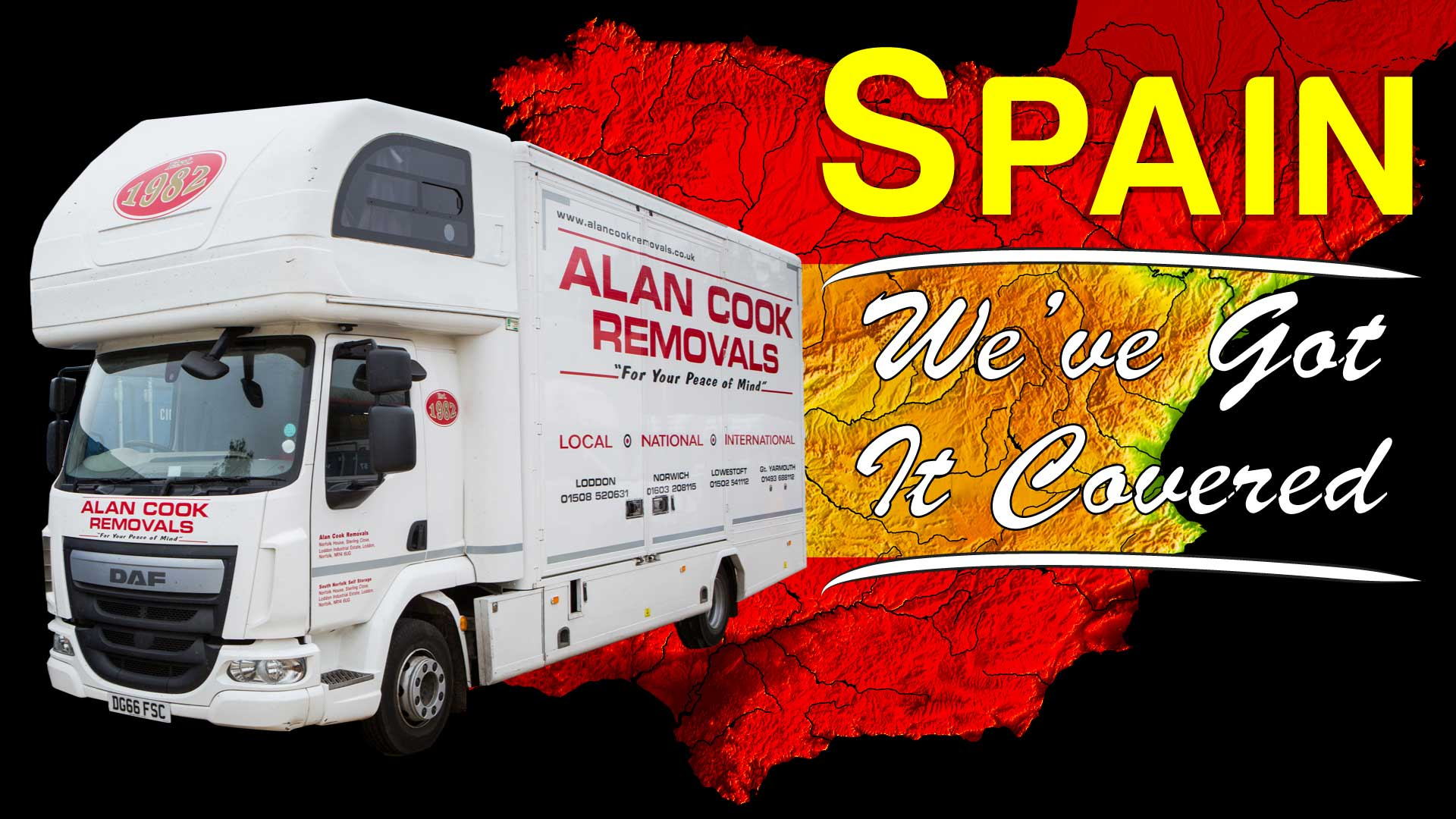 Spain - Alan Cook Removals - Of all the Norwich Removals Companies we pride ourselves in offering the most prfessional, 